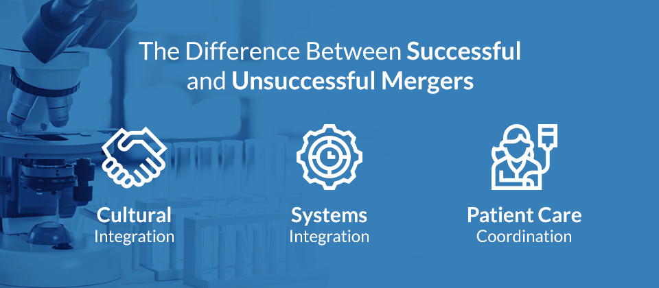 difference between healthcare mergers