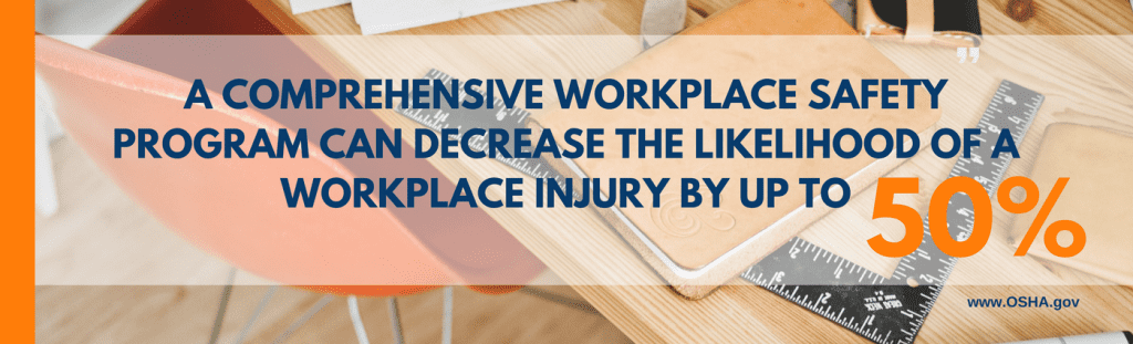 A Comprehensive Workplace Safety Program Can Decrease The Likelihood of A Workplace Injury by Up to 50%